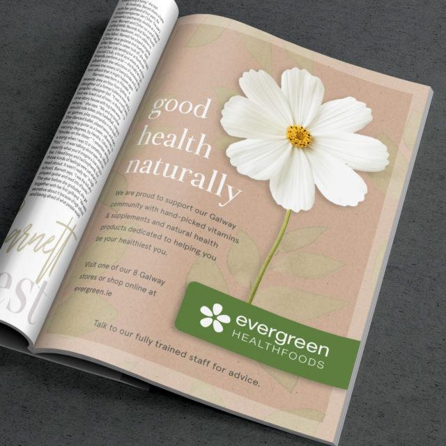 Magazine Advertisement for Evergreen Healthfoods