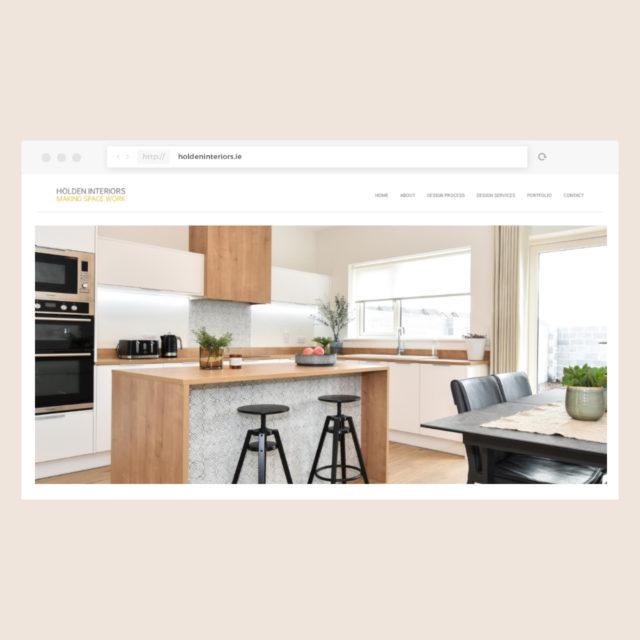 Bespoke Desktop web design for Holden Interiors