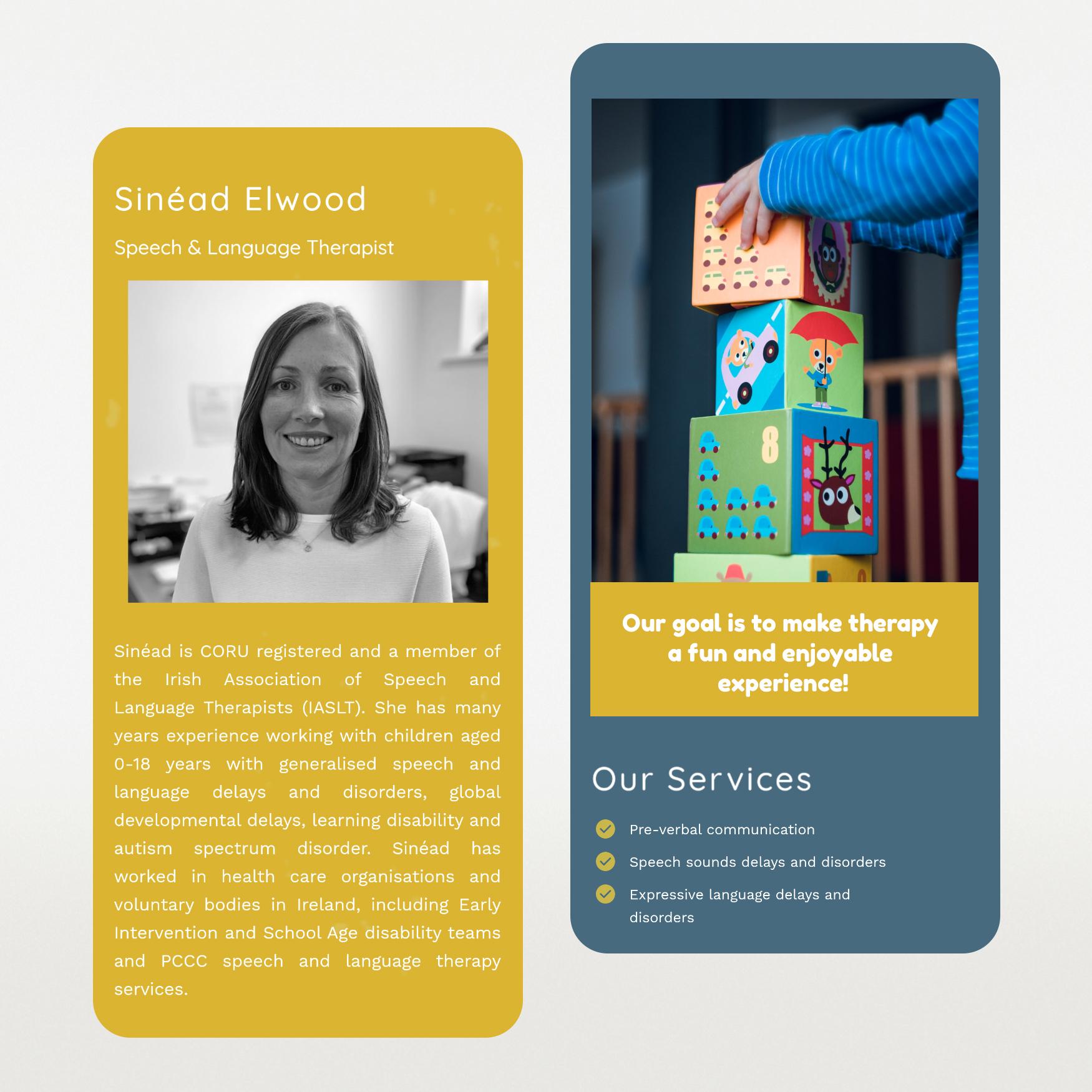 website Design for Little Speech Clinic Galway